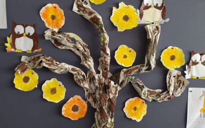 As flores de boas vindas à Primavera