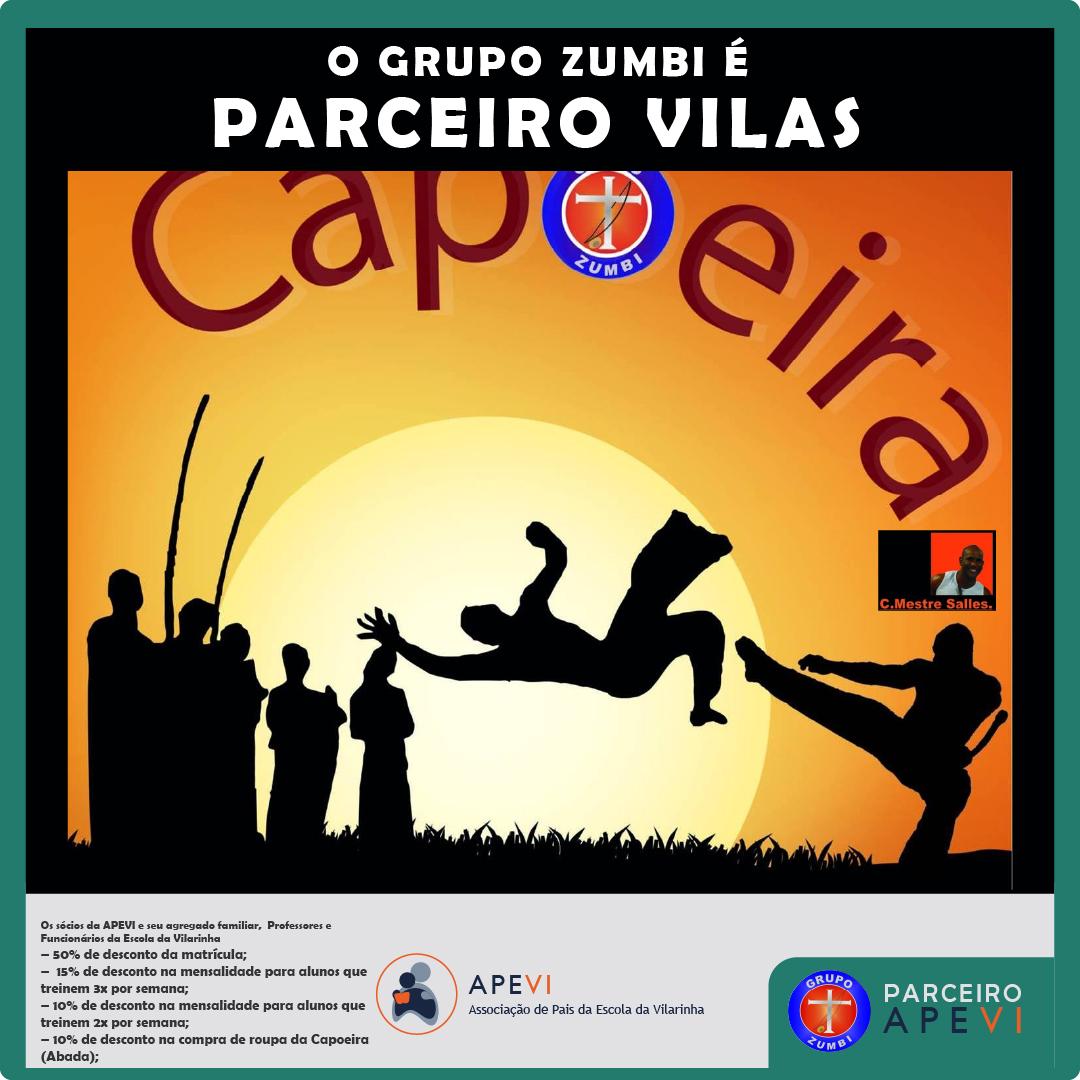 Parceiro APEVI - Grupo Zumbi Escola de Capoeira mestre salles