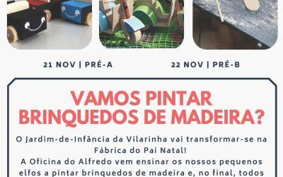 Vamos pintar brinquedos de Madeira?
